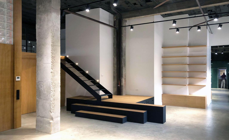 vista general de espacio open concept del loft.